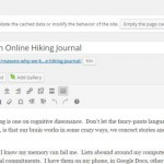 Reasons why we keep an Online Hiking Journal