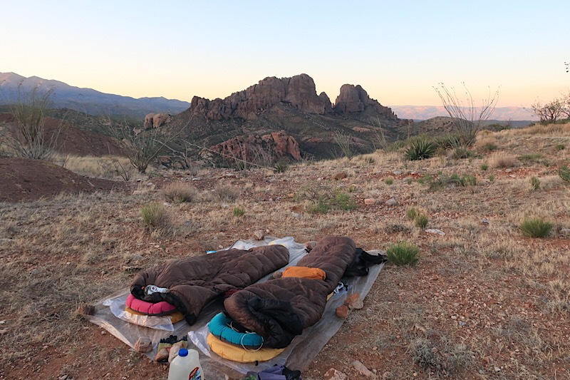 Camped overlooking Black Rock Mountain