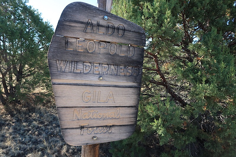 Entering the Aldo Leopold Wilderness