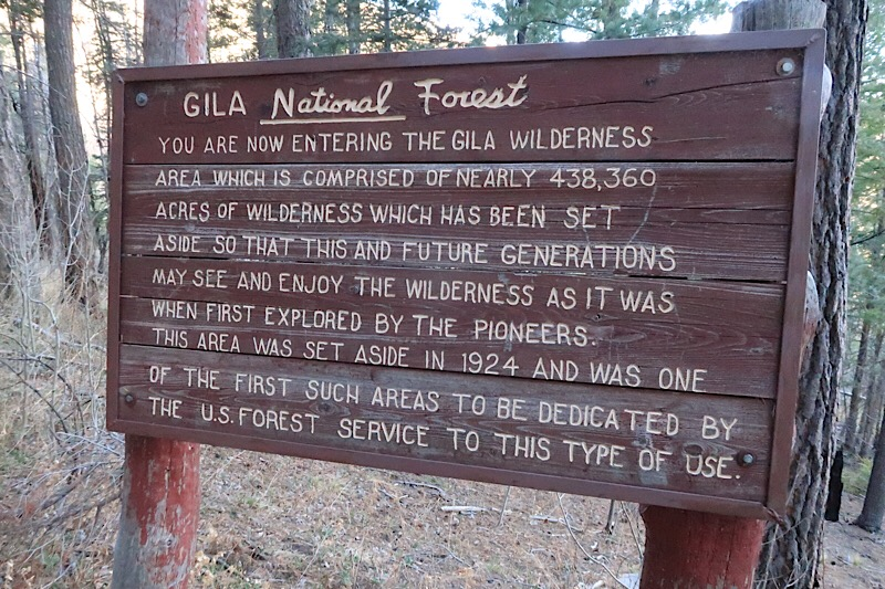 Entering the Gila Wilderness (America's First Wilderness area)