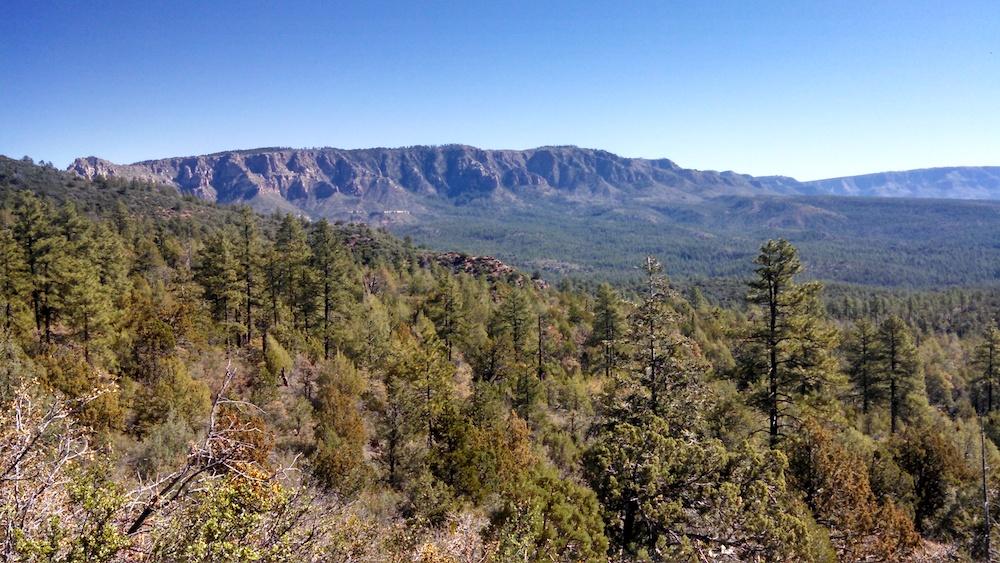 Taking in the Mogollon Rim from the Arizona Trail, 2015