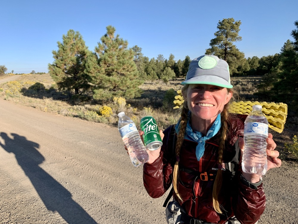 Trail magic from Pinion Pine nut pickers